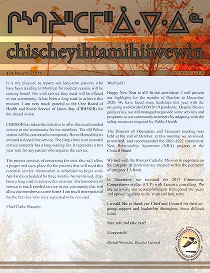 chischeyihtamihiiwewin-Newsletter-3rd-quarter-2020-1