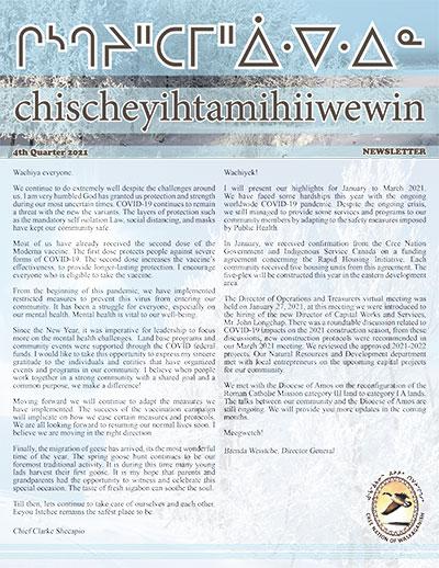 chischeyihtamihiiwewin-Newsletter-4th-quarter-2021-1