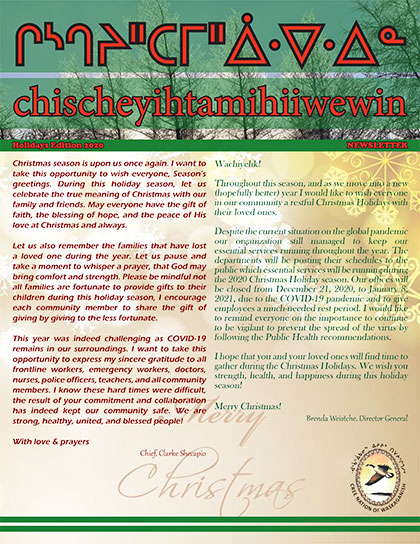 chischeyihtamihiiwewin-Newsletter-Holidays-Edition-2020