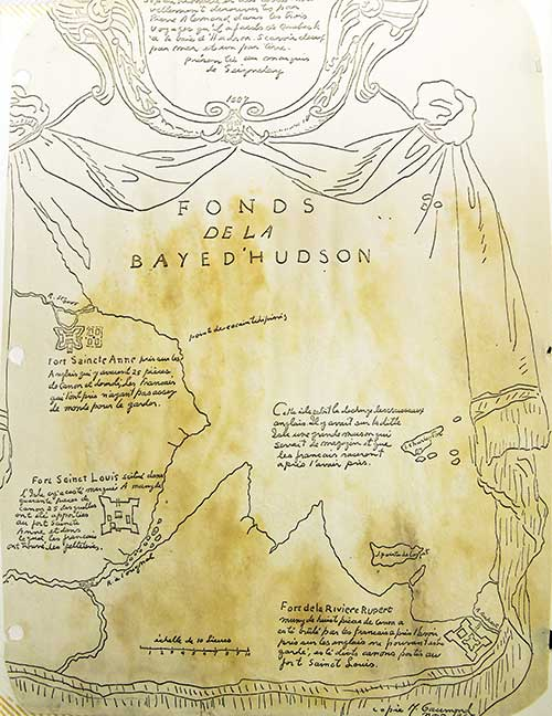 Known forts in the Hudson Bay