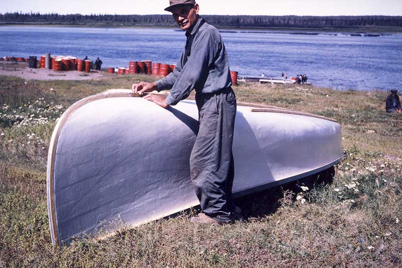 Canoe making cca. 1960 - Jim Chism