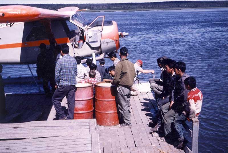 Plane at docs cca.1960 - Jim Chism